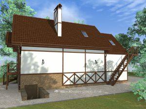 Гостевой дом с комнатой для охраны